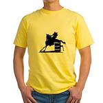 barrel racing silhouette Yellow T-Shirt