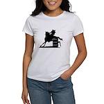 barrel racing silhouette Women's T-Shirt