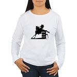 barrel racing silhouette Women's Long Sleeve T-Shi