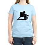 barrel racing silhouette Women's Light T-Shirt