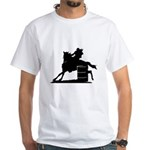 barrel racing silhouette White T-Shirt