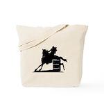 barrel racing silhouette Tote Bag