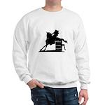 barrel racing silhouette Sweatshirt