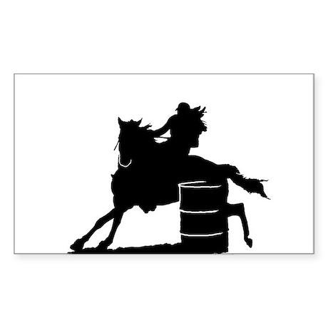 Barrel racing silhouette
