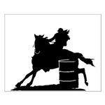 barrel racing silhouette Small Poster