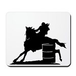 barrel racing silhouette Mousepad