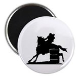 barrel racing silhouette Magnet