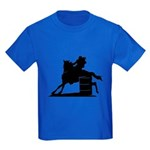 barrel racing silhouette Kids Dark T-Shirt