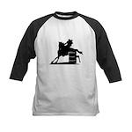 barrel racing silhouette Kids Baseball Jersey