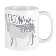 Crazy Cow Lady Mugs