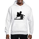 barrel racing silhouette Hooded Sweatshirt