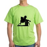 barrel racing silhouette Green T-Shirt