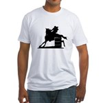 barrel racing silhouette Fitted T-Shirt