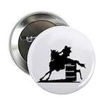 barrel racing silhouette Button