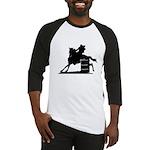 barrel racing silhouette Baseball Jersey