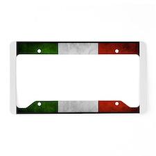 Italian Flag License Plate Holder