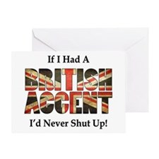 British Accent Greeting Cards