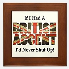 British Accent Framed Tile