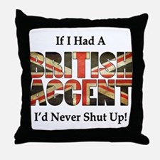 British Accent Throw Pillow