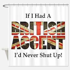 British Accent Shower Curtain