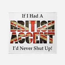 British Accent Throw Blanket