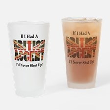 British Accent Drinking Glass