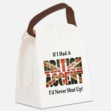 British Accent Canvas Lunch Bag