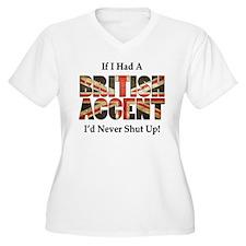 British Accent Plus Size T-Shirt