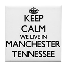 Keep calm we live in Manchester Tenne Tile Coaster