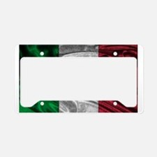Italian Flag Graphic License Plate Holder
