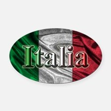 Italian Flag Graphic Oval Car Magnet