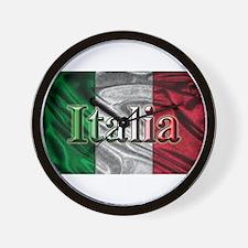 Italian Flag Graphic Wall Clock