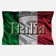 Italian Flag Graphic Pillow Case