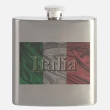 Italian Flag Graphic Flask