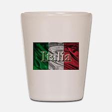 Italian Flag Graphic Shot Glass
