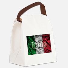Italian Flag Graphic Canvas Lunch Bag