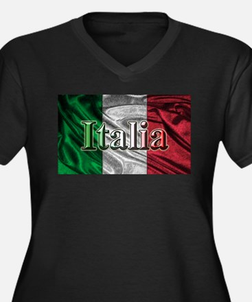 Italian Flag Graphic Plus Size T-Shirt