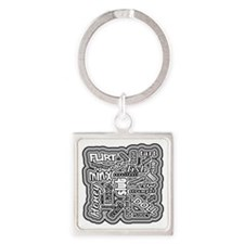 Funny Hussy Square Keychain