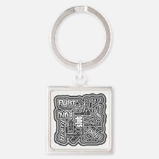 Cute Hussy Square Keychain