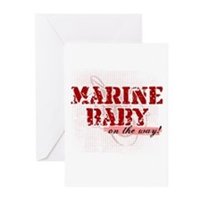 Marine Baby On the Way Greeting Cards (Package of