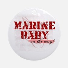 Marine Baby On the Way Ornament (Round)