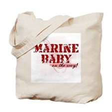 Marine Baby On the Way Tote Bag