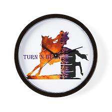 Turn 'n Burn Wall Clock
