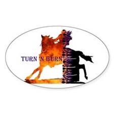 Turn 'n Burn Oval Decal