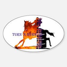 Turn 'n Burn Oval Decal