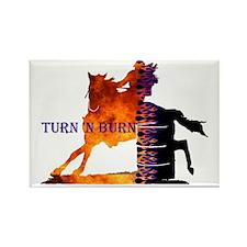 Turn 'n Burn Rectangle Magnet