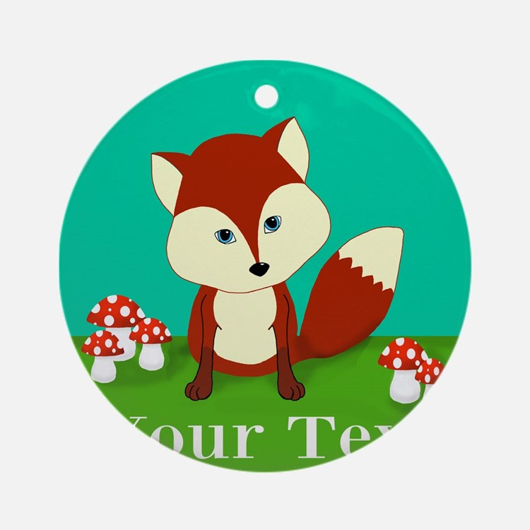Personalizable Woodland Fox Ornament (Round)