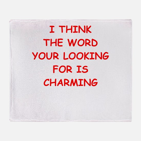 Cute Prince charming Throw Blanket