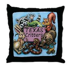 Texas critters Throw Pillow