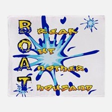 BOAT (W).png Throw Blanket